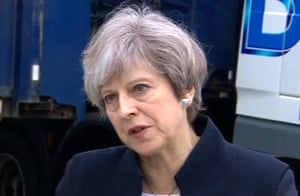 Prime minister Theresa May reacts to the cyber attack on the NHS computer systems