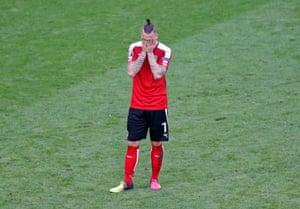 Arnautovic, dejected.