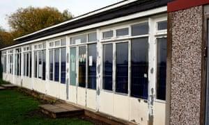 Crumbling school building