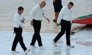 Umpires at the women's Ashes Test at Taunton