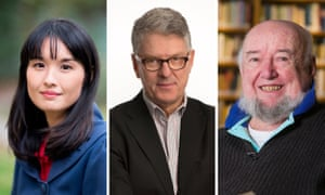A composite image of Alice Pung, David Marr and Tom Keneally