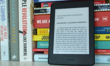 An Amazon Kindle. At least Arthur Conan Doyle doesn't mind about the payment structure.