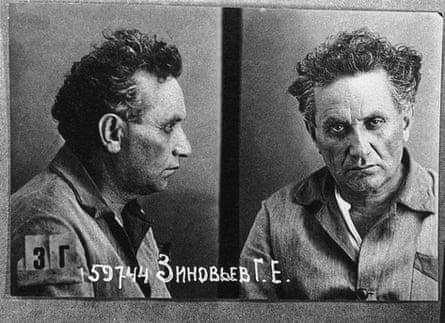 A police mugshot of Grigory Zinoviev.