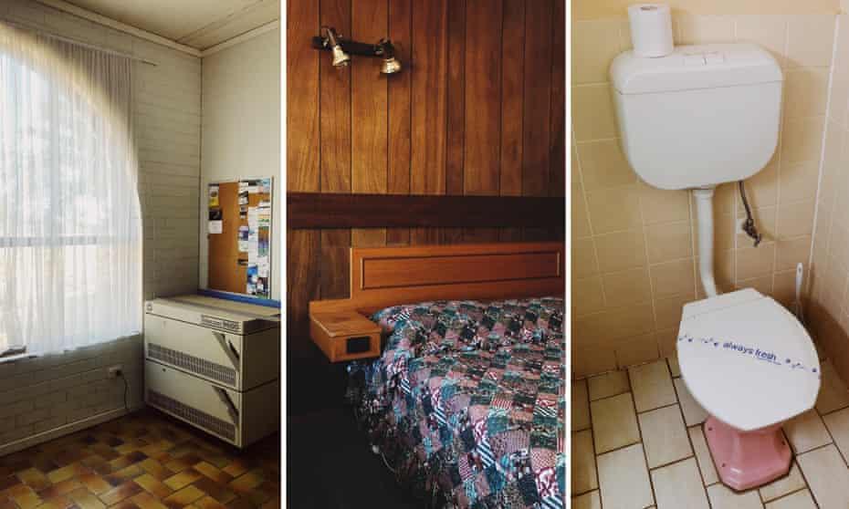 Three way composite of the Charlton Motel.