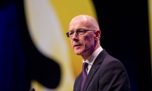 John Swinney speaking at the SNP conference.