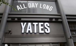 A Yates bar in Manchester