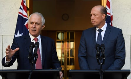 Malcolm Turnbull and Peter Dutton