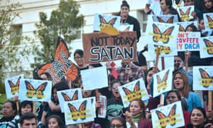Dreamers and advocates attend a rally in Los Angeles, California in March this year.