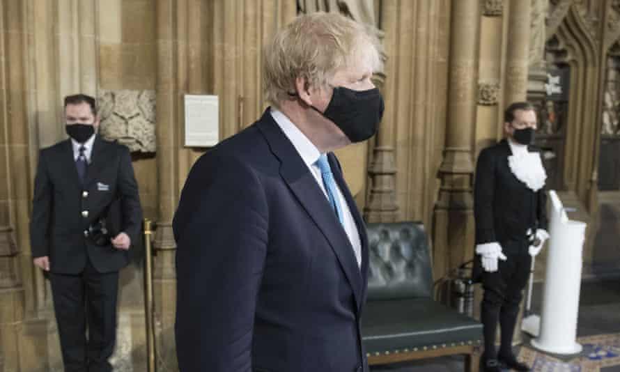 Boris Johnson after attending the Queen's speech