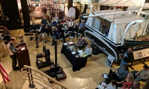 The big read: fans gathered in the whaling museum's Bourne Building in New Bedford, Massachusetts.