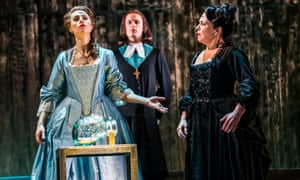 Susannah Hurrell, Alexander Simpson and Ann Taylor in Giulio Cesare by English Touring Opera, one of the groups in the national portfolio.