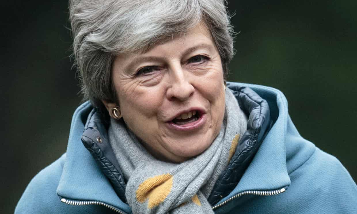 May's only response on Sunday was a homespun video that called for a compromise solution.