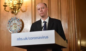 Chief Medical Officer Chris Whitty speaks during a press conference with Prime Minister Boris Johnson, 19 March