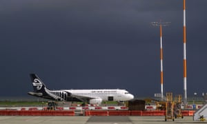 An Air New Zealand Airbus A320 plane sits on the tarmac