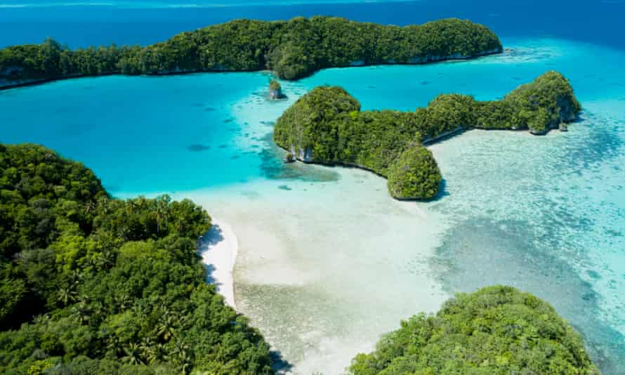 Two-dogs beach in Palau's Rock Islands.