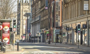 Deansgate in central Manchester today.
