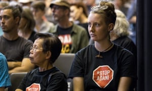 Audience members at a Batman byelection candidates forum in Melbourne on Tuesday.
