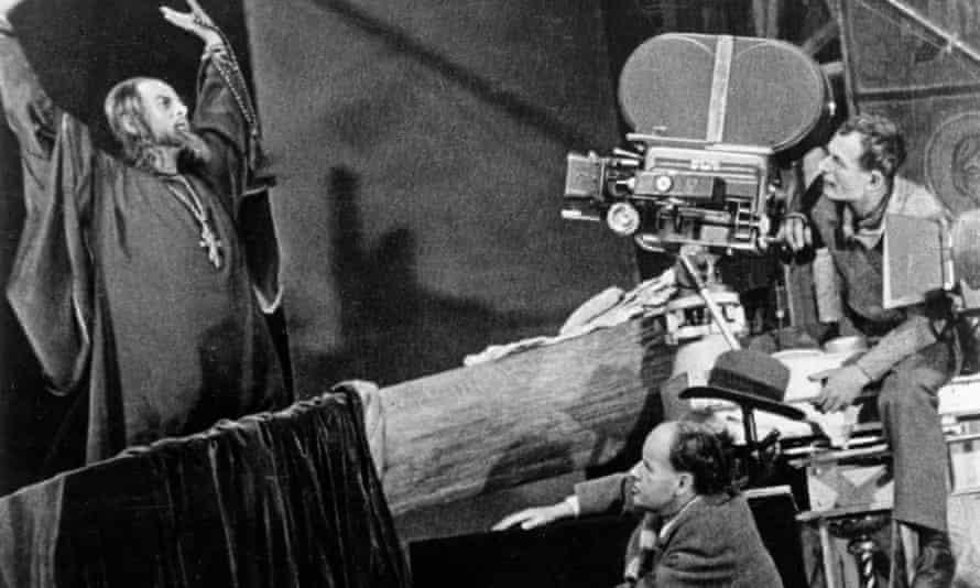 Filming Ivan the Terrible in 1945.