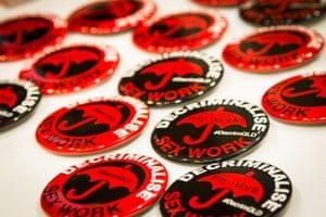 Decriminalise sex work badges