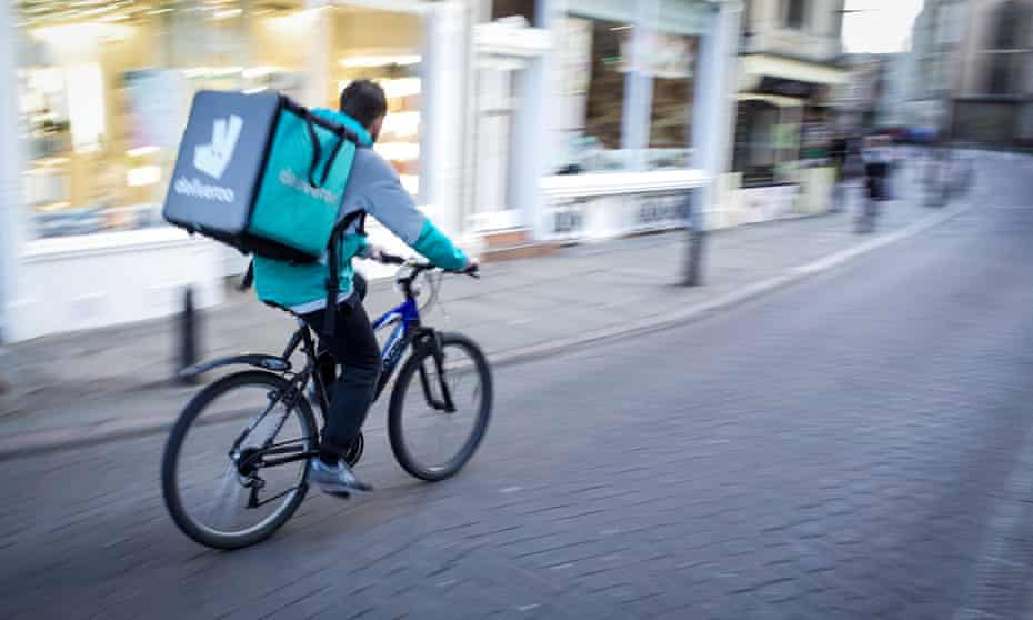 Deliveroo couriers are now a familiar sight in many UK towns and cities.