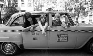 Kenickie in a New York taxi in 1997.