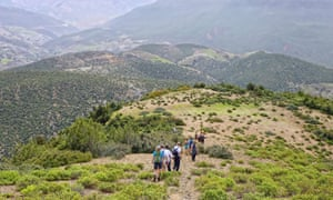 Hiking in the Atlas mountains, Morocco.