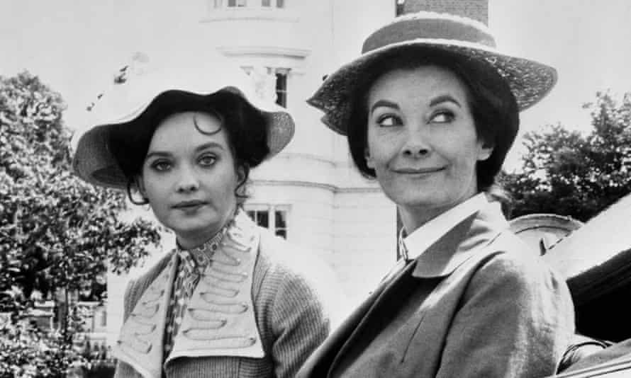 Nicola Pagett, left, with Jean Marsh, in the ITV series Upstairs Downstairs, in the 1970s.