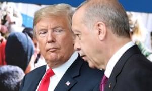 Donald Trump with the Turkish president, Recep Tayyip Erdogan, in July.