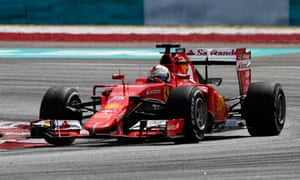 Sebastian Vettel won his first race since December 2013 as Ferrari announced their return to form at Sepang. Photograph: Reuters/Olivia Harris