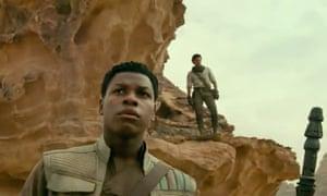John Boyega and Oscar Isaac in the trailer