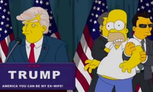President Donald Trump meets Homer Simpson in 2015.