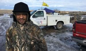 Brandon Dowd at Malheur wildlife refuge on Saturday.