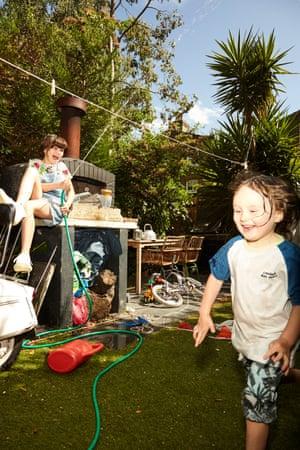 Lilah, 11, wears dungarees, £23, next.co.uk. T-shirt, £12, arket.com. Trainers, £85, veja-store.com. Malachy, 5, wears T-shirt, £5.99, and sandals, £15.99, both zara.com. Shorts, £5.99, hm.com