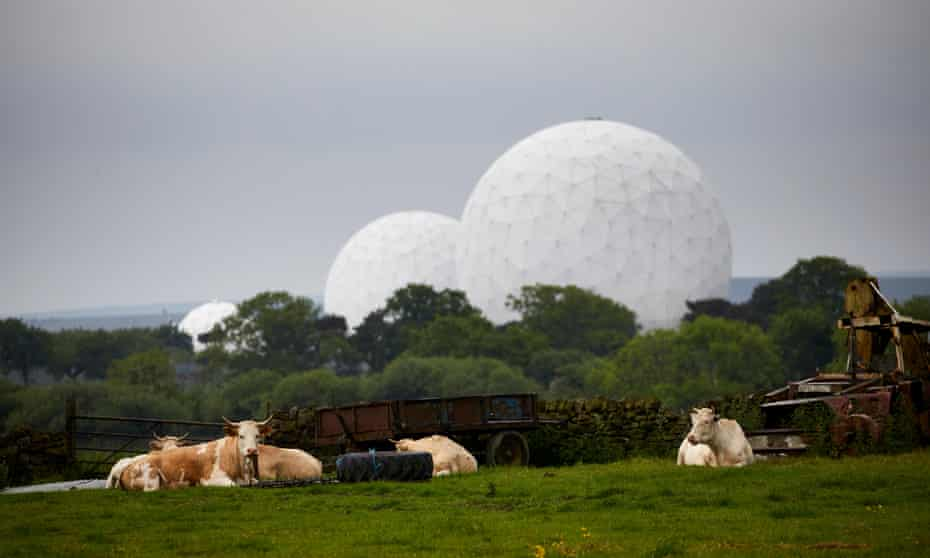 Royal Air Force Menwith Hill station near Harrogate, North Yorkshire, England