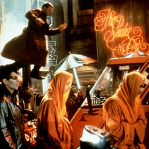 A 1980s view of the future in the original Blade Runner
