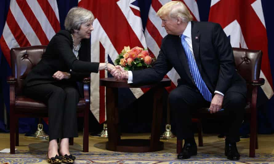 Donald Trump and Theresa May in New York last year
