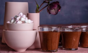 Instant chocolate mousse from Nigella Express by Nigella Lawson. 20 best easy puddings, styled Polly Webb-Wilson.