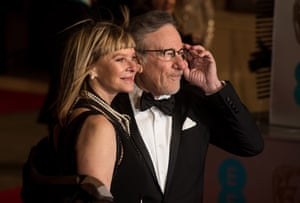 Spies on the prize Steven Spielberg and Kate Capshaw.
