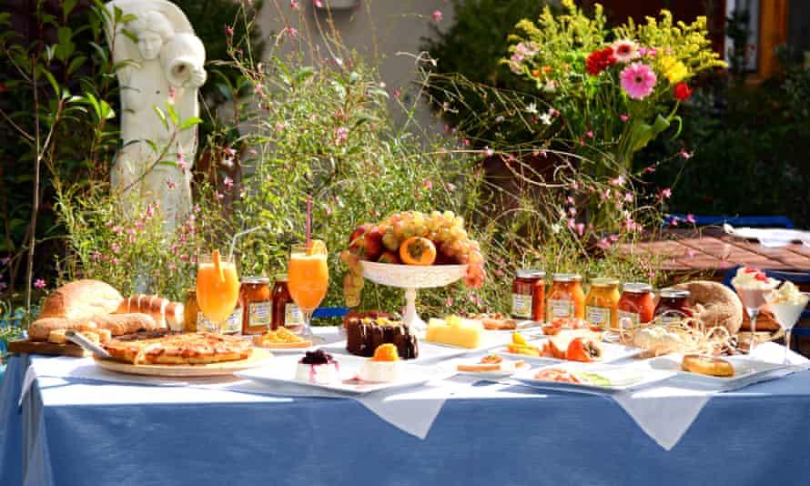 Breakfast at the Ganimede Hotel, Galaxidi , Greece