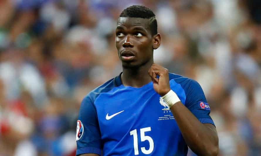 Paul Pogba during France's Euro 2016 final defeat to Portugal in Paris