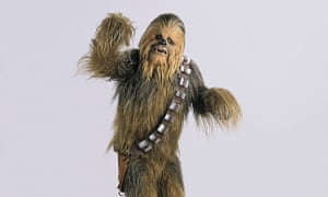 Peter Mayhew as Chewbacca in Star Wars: Episode IV – A New Hope, 1977.