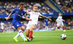 Cesar Azpilicueta struggled against Sheffield United