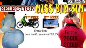 Poster advertising the Miss Bim Bim competition in Burkina Faso, which the government has cancelled.