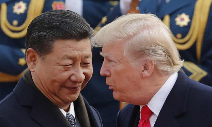 Donald Trump and Xi Jinping at the Great Hall of the People in Beijing, November 2017