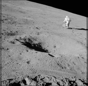Walking on the moon during the Apollo 15 mission, described at the time by Nasa as the most successful manned flight thus far