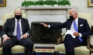Boris Johnson and Joe Biden at the White House