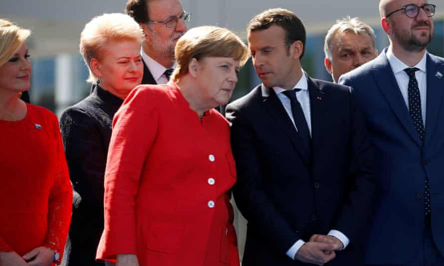 When Emmanuel Macron and Angela Merkel met for the first time, they spent about 60 seconds discussing Brexit
