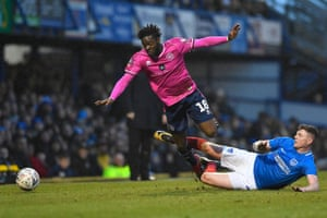 "Queens Park Rangers's Aramide Oteh is tackled by Portsmouth's Dion Donohue as the teams draw 1-1 at Fratton Park. QPR manager Steve McLaren said: ""I would have settled for a replay before the game."""