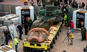 Statue of Liberty's original torch gets a new home   US news   The Guardian