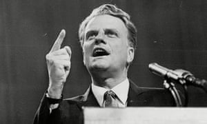 Billy Graham speaking at Earls Court, London, in 1967.